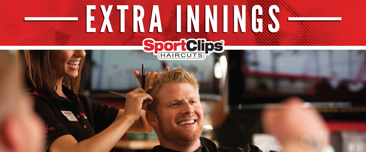 The Sport Clips Haircuts of McKinney Towne Center Extra Innings Offerings