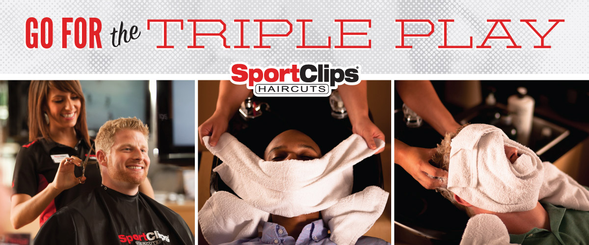 The Sport Clips Haircuts of McKinney Towne Center Triple Play