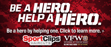 Sport Clips Haircuts of McKinney Towne Center​ Help a Hero Campaign